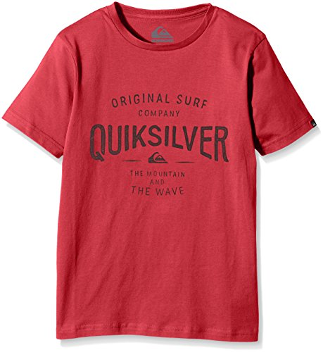 Quiksilver -  T-shirt - Maniche corte  - ragazzo Rosso Red (American Beauty) X-Small