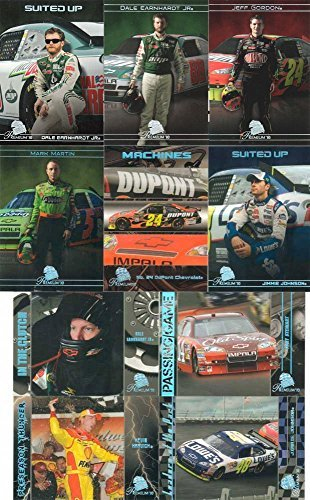 2010-press-pass-premium-series-nascar-racing-complete-mint-basic-90-card-set-including-jimmie-johnso