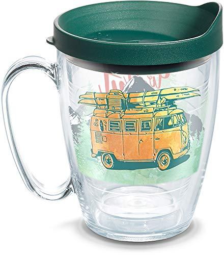 Tervis 1318095 Volkswagen-Get Out Mountains Isolierbecher mit Umschlag und Deckel, 450 ml, transparent Titan Insulated Mug