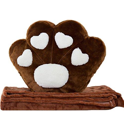 Good Night Hundetatze Plüsch Puppe Spielzeug Zuhause Sofa Kissen Halten Kissen mit Decke, 15×12,6'' -