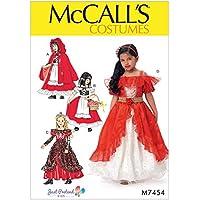 McCalls Girls Sewing Pattern 7454Dress Up Costume con sottogonna e mantello - Corpetto Trim