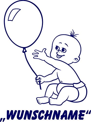 INDIGOS UG - Babystrampler / Strampler 063 mit Wunschname / Wunschtext schwarz 86/92