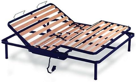 Kiwi Sommier Électrique avec Lattes en Bois 2 Personnes 160 X 200 cm