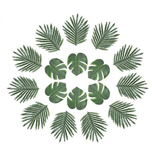 ck Tropical Palm Leaves Party Dekoration Tropical Fensterblätter Blättern für Jungle Strand Thema Party Dekorationen Supplies (2Styles) ()