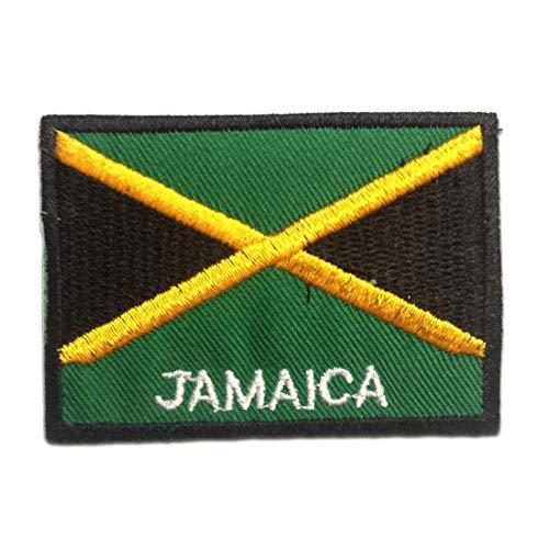 Parches - JAMAICA bandera - verde - 7.4x5.4cm - termoadhesivos
