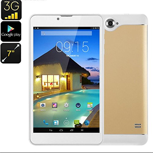 3G Android Tablet - Dual-IMEI, 7-Zoll, HD-Display, Bluetooth, Google Play, OTG, Vierkern-CPU, WiFi, 2500mAh (Gsm 7-zoll-tablet-telefon)