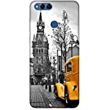 For Huawei Honor 7X Beautiful Car ( Vintage Image, Vintage Images With Yellow Car, Yellow Car, Nice Car, Beautiful Car, Car ) Printed Designer Back Case Cover By King Case