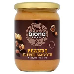 Biona Beurre de Cacahuètes Bio Lisse et sans Sel Ajouté 500 g