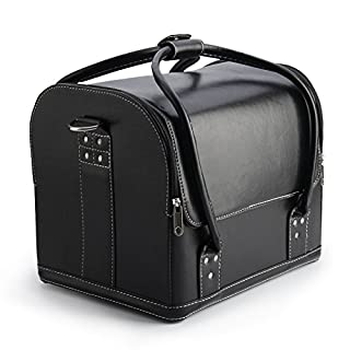AllRight Make Up Box Beauty Cosmetic Case Make Up Bag Storage Black