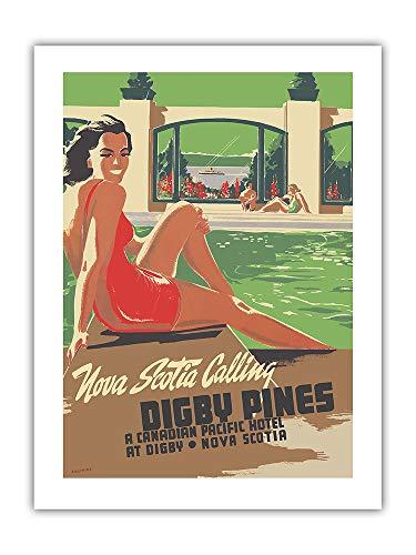 Pacifica Island Art - Digby Pines Resort - Neuschottland - Canadian Pacific Hotel - Retro Weltreise Plakat von Peter Ewart c.1940 - Giclée Kunstdruck 46 x 61 cm - Canadian Pacific Hotel