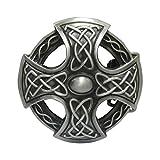 GoGou Herren Western Kreuz Celtic Knoten Rundes Land Gürtelschnallen