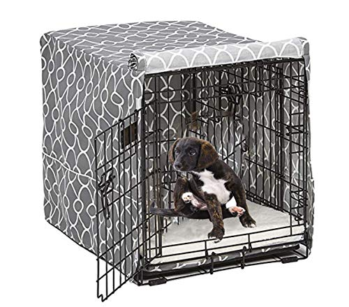 Morezi Hundekäfig-Abdeckung für Drahtkäfige, passend für die meisten 91,4 cm Hundekisten. Einfach anzubringen, abzunehmen und anzupassen - nur Abdeckung
