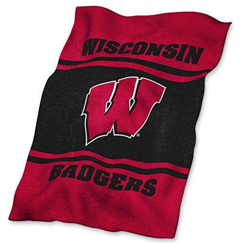 NCAA Weiches Künstliches Überwurf von Logo Marken, damen Jungen unisex Herren, Wisconsin