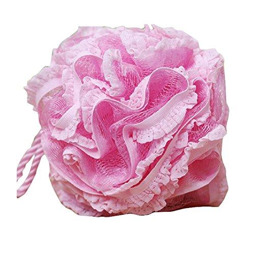 Forme Fleur douche éponge Exfoliant boule de bain / boule pour le bain, Rose