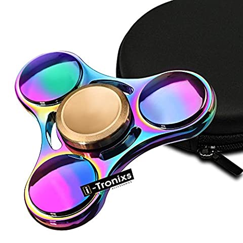 Cool, Fun, Multi-Colored Fidget Hand Spinner, Jouet Fidget Tri-Spinner, Must-Have