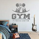 wukongsun Fitness Wall Decal Gym Aufkleber Übung Aufkleber Art Logo Poster Wall Sticker Removable...