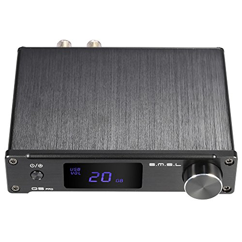 ammoon Verstärker HiFi Digital Mini Tragbar 3,5 mm AUX Analog / USB / Koaxial / Optisch Stereo Audioenergie S. M. S. L Q5 Profi mit Fernbedienung (Pa-lautsprecher Car-audio)