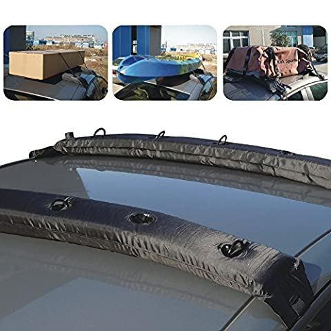 SmartSpec Inflatable Universal Roof Top Rack and Luggage Carrier soft roof rack for kayaks, SUP, luggage