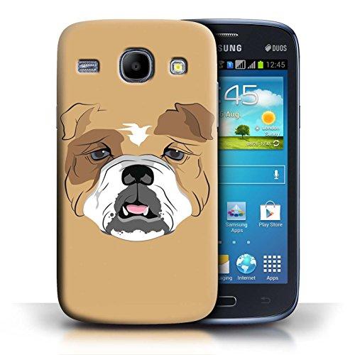 iCHOOSE Hülle / Hülle für Apple iPhone 4/4S / harter Plastikfall für Telefon / Collection Schnauzen / Hund / Bulldog - Bulldogge
