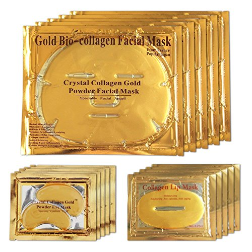 Mascarilla facial de gel de oro de 24 quilates