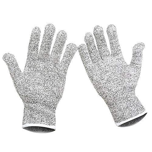 LXVY Schnittfeste Handschuhe Schnittfeste Handschuhe Verschleißfeste Küchenmesser Schnittgemüseschutz Für Männer Comfort Stretch Fit,S -