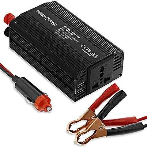 Onduleur 300w - FosPower Puissance de voiture Onduleur 300W Convertisseur