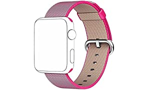 TANTRA 42mm Smart Nylon Replacement Sport Strap I-Watch Band for Apple Watch 42mm Sports Edition with Classic Stainless Steel Buckle
