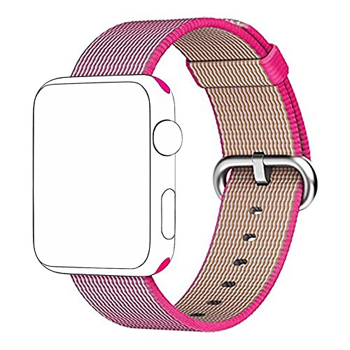 TANTRA Smartwatch Woven Nylon Band for Apple 42 mm, Uniquely and Artistically with Fabric Like Feel (Pink)