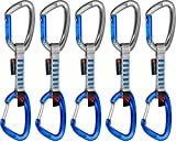 Mammut 5er Pack Crag Indicator Wire Express Sets Karabiner, Straight Gate/Wire Gateilver/Phantom, 10 cm