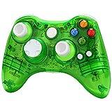 Xbox 360 wireless controller,Uniway XC03 transparent Xbox controller wireless PC Gamepad with LED-Green