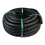 50m Leerrohr Well- Elektro- Rohr Kabelkanal Wellschlauch ⌀20mm M20 750N schwarz PVC flammwidrig RGSp 20/14 Marmat 2972