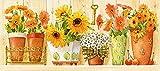 grafitec Gedruckt Tapisserie-Set–Sonnenblumen & Korbblütler