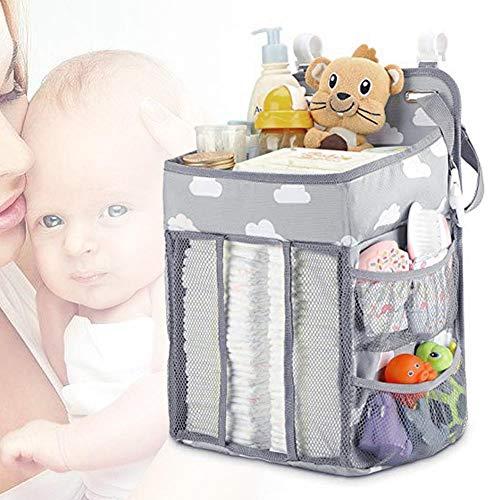 Lucky-all star Kinderwagen-Organizer, faltbar, platzsparend, Kinderwagentasche Kinderwagen-Aufbewahrungstasche mit besonders großem Stauraum für Handys, Flaschen, Brieftaschen, Windeln und Spielzeug
