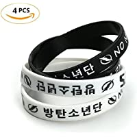 Skisneostype Kpop BTS Bangtan Boys Wristband Bracelet Silicone Rubber Wristband Hot Gift for A.R.M.Y