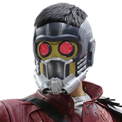 Guardians Of Kostüm Starlord Galaxy The - Guardians Maske Cosplay mit Glow Brille Erwachsene Helm Kostüm Halloween Mask PVC Aktualisierte Version