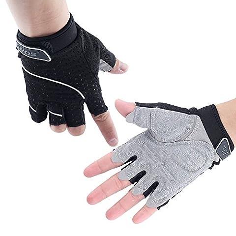 OVOS Multifunktionshandschuhe Perfekt für Gym Workout Fitness Cross Training Übung Premium Qualität Gewichtheben Handschuh (M, Schwarz)