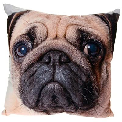 Popular Pug Dog Face Photo Print Cushion and Cover - cheap UK light store.