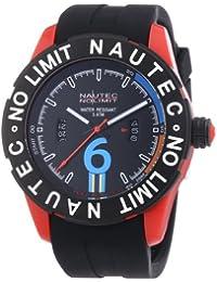 Nautec No Limit Herren-Armbanduhr XL Zero-Yon 2 Analog Quarz Kautschuk ZY2-B QZ/RBPCBKBK-RD