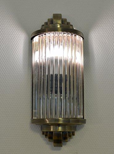Art Deco Glasstäbchen Wandleuchte Bauhaus Lampe Wandlampe Antik Stil Palazzo Exclusiv -