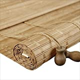 WUFENG Cortina Di Bambù Ombra Avvolgibile Balcone Finestra A Bovindo Sfondo Stile Giapponese Casa Da Tè Roller Blind (Colore : A, dimensioni : 120x250cm)