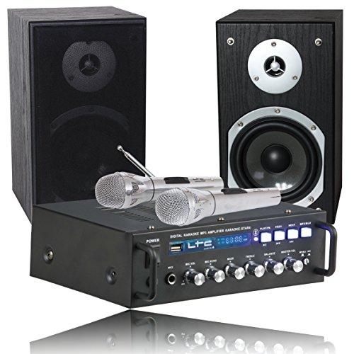 Ltc KARAOKE-STAR4 - Karaoke con reproductor USB, color negro