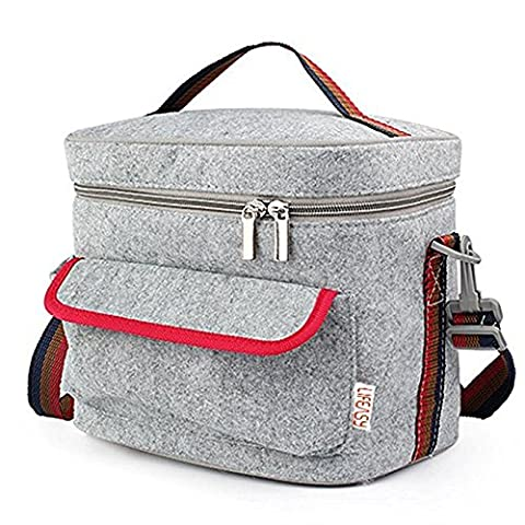 Lifeasy - Felt Insulated/Cooler Lunch Bag with Crossbody Strap