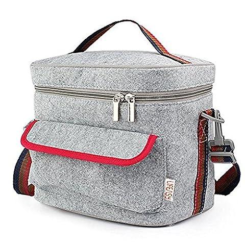 Lifeasy - Filz Isoliert / Kühler Lunch Bag mit Crossbody Strap