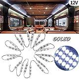 20x3LEDs Kit de Luz Interior lámpara de Módulo Auto LED iluminación Luces Interiores del Coche 12V Blancos para Camper Van Caravana Camión Barcos Transit.