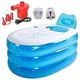 Aufblasbare Badewanne, outgeek Aufblasbare Dusche Badewanne Verdicken Faltbare Aufblasbare Spa Badewanne mit Elektrische Luftpumpe (S)