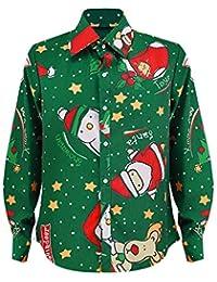 Hffan Damen Mädchen Weihnachtshemd Weihnachten Langarmshirt Shirt Top Oberteile Bluse Langarm Freizeithemd Damenhemd Hemd Pullover mit Süß Karikatur