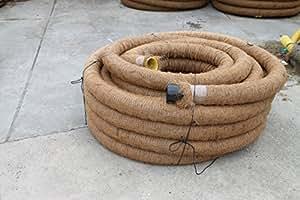 50 m drainagerohr dn 100 gelocht mit kokosfilter kokos ummantelt baumarkt. Black Bedroom Furniture Sets. Home Design Ideas