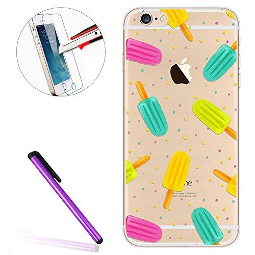 iPhone SE Hülle Silikon,iPhone SE Hülle Transparent,iPhone SE Hülle Glitzer,iPhone 5S Clear TPU Case Hülle Klare Ultradünne Silikon Gel Schutzhülle Durchsichtig Rückschale Etui für iPhone 5,iPhone 5S  Flamingo 2