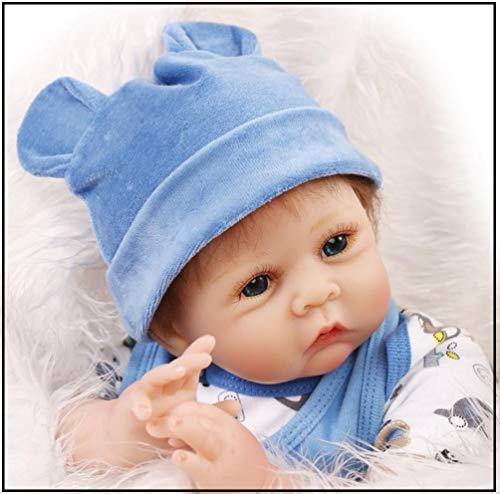 Exing Reborn recién Nacido Baby realike Baby muñecas handgemachtes Realista Silicona, 55cm 1.2kg Partner Dormir para bebé