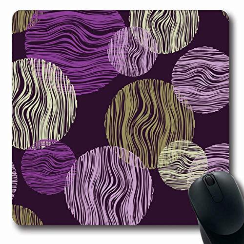Luancrop Mousepads Kratzer Polka Dot Scribble Abstrakte Bluse Ring Boho Canvas Teppich Kreis Design-Muster rutschfeste Gaming-Mausunterlage Gummi-Matte -